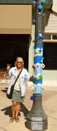 Christine and Blue Pole