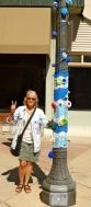 Christine and Blue Pole