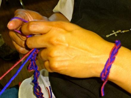 FingerCrocheting Bracelet
