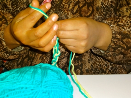 FingerCrocheting Turqoise