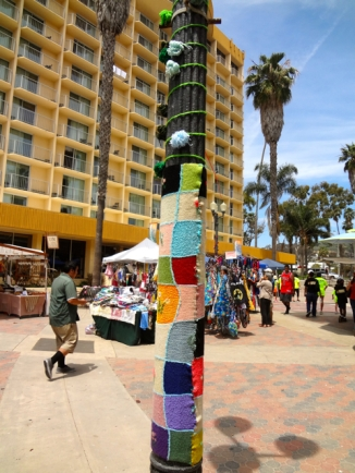 Green Pole at Craft Fair