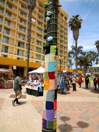 Green Pole at Craft Fair