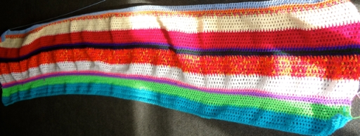 Multicolr Striped Blanket