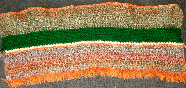 Orange-Green Blanket