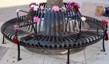 Pink Bench