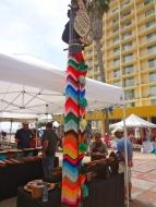 Purple Pole at Craft Fair