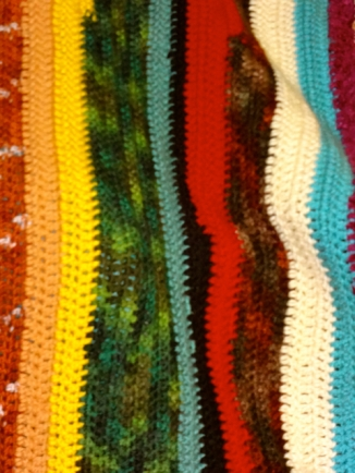 Striped Family Blanket Close-Up