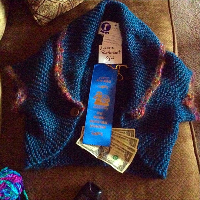 Luanne's Blue Ribbon Shrug
