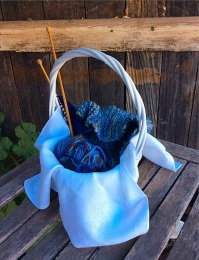 community-blue-yarn-basket