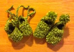 green-baby-booties