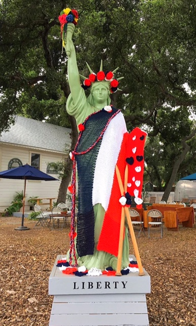 Yarn Bombing Lady Liberty